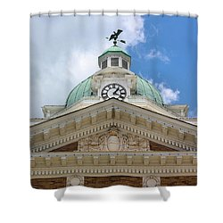 Giles County Courthouse Details Shower Curtain by Kristin Elmquist