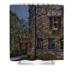 Gillette Castle Exterior Hdr Shower Curtain by Susan Candelario