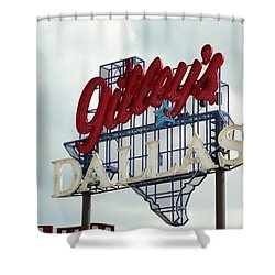 Shower Curtain featuring the photograph Gilleys Dallas by Charlie and Norma Brock