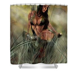 Gimme Shelter Shower Curtain by Pete Tapang