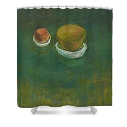 Shower Curtain featuring the painting Ginger Pot by Kathleen Grace