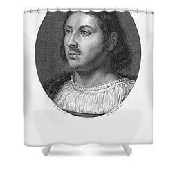 Giovanni Boccaccio Shower Curtain by Granger