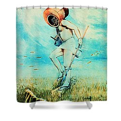 Giovanni Borelli Underwater Shower Curtain by Science Source