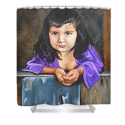 Shower Curtain featuring the painting Girl From San Luis by Lori Brackett