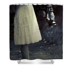 Girl With An Oil Lamp Shower Curtain by Joana Kruse