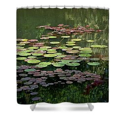 Giverny Lily Pads Shower Curtain by Eric Tressler