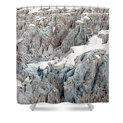 Glacial Crevasses Shower Curtain by Mike Reid