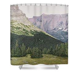 Glacier National Park Montana Shower Curtain by Mary Ann King