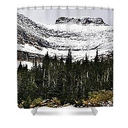 Glacier Park Bowlrock Shower Curtain by Susan Kinney