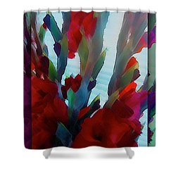 Shower Curtain featuring the digital art Glad by Richard Laeton