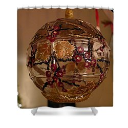 Shower Curtain featuring the photograph Glass Bauble by Richard Reeve