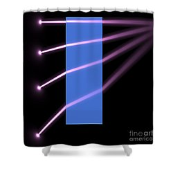 Shower Curtain featuring the digital art Glass Block 2 by Russell Kightley