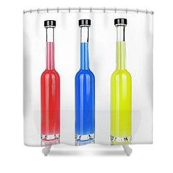 Glass Bottles Shower Curtain by Joana Kruse