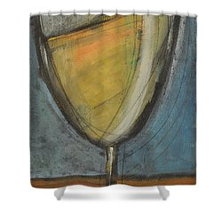 Glass Of White Shower Curtain by Tim Nyberg