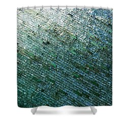 Glass Strata Shower Curtain