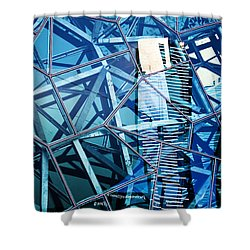 Glasshouse City Shower Curtain by Andrew Paranavitana