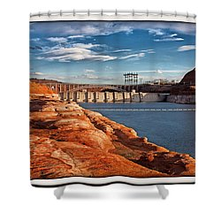 Glen Canyon Dam And Bridge Shower Curtain