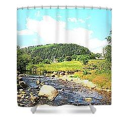 Glendalough Panorama Shower Curtain