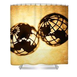 Globe 2 Shower Curtain by Tony Cordoza