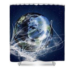 Globe Shower Curtain by Setsiri Silapasuwanchai