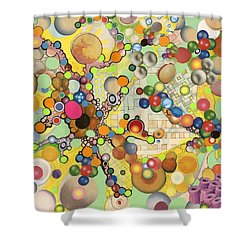 Shower Curtain featuring the mixed media Globious Maximous by Douglas Fromm