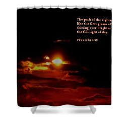 Shower Curtain featuring the photograph Glorious 2 by Maria Urso