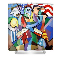 Glory Glory Shower Curtain by Anthony Falbo