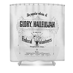 Glory, Hallelujah Shower Curtain by Photo Researchers