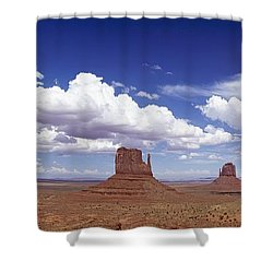 Glove Buttes And Clouds Shower Curtain by Axiom Photographic
