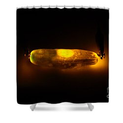 Glowing Electric Pickle 2 Of 2 Shower Curtain by Ted Kinsman