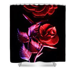 Glowing Glass Rose Shower Curtain