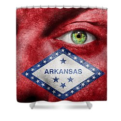 Go Arkansas  Shower Curtain by Semmick Photo