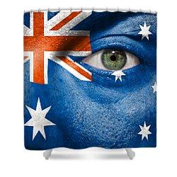 Go Australia Shower Curtain by Semmick Photo