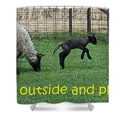 Go Outside And Play Shower Curtain by LeeAnn McLaneGoetz McLaneGoetzStudioLLCcom