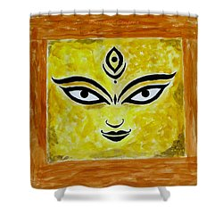 Shower Curtain featuring the painting Goddess Kali by Sonali Gangane