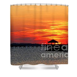 Shower Curtain featuring the photograph Godnight Sound by Linda Mesibov