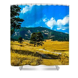 Shower Curtain featuring the photograph God's Country by Shannon Harrington