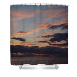God's Evening Painting Shower Curtain by Bonfire Photography