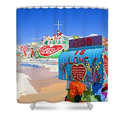 Shower Curtain featuring the photograph God's Mailbox by Hugh Smith