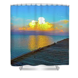 Gods' Painting Shower Curtain