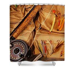 Goin Fishin Shower Curtain by Skip Willits