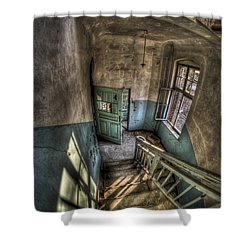 Going Down  Shower Curtain by Nathan Wright