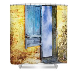 Going In Shower Curtain by Skip Nall