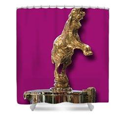 Gold Buggatti Mascot Shower Curtain by Jack Pumphrey