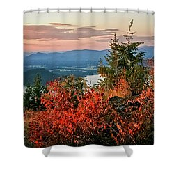 Shower Curtain featuring the photograph Gold Hill Sunset by Albert Seger