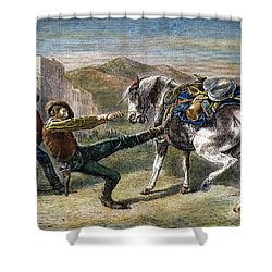 Gold Prospectors, C1876 Shower Curtain by Granger