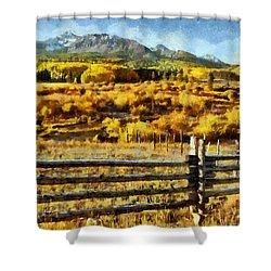 Golden Autumn Shower Curtain by Jeff Kolker