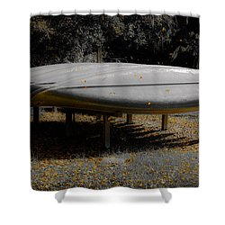 Golden Autumn Shower Shower Curtain by DigiArt Diaries by Vicky B Fuller