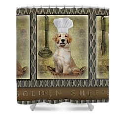 Golden Chef's Shower Curtain by Susan Candelario