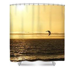 Golden Day Shower Curtain by Ernie Echols